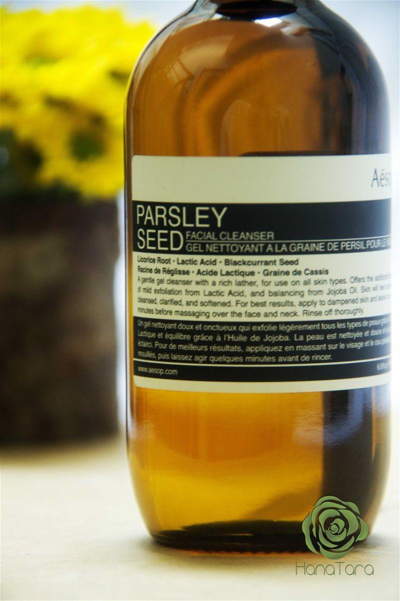 Aesop Parsley Seed Facial Cleanser - Sự hấp dẫn của những chiếc lọ nâu