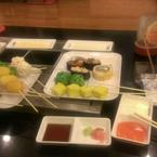 xiên que + sushi