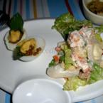 Trứng bát bửu và salad cá ngừ
