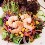 Garden salad with shrimp 69.OOO
