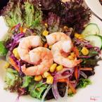 Garden salad with shrimp 69.OOO