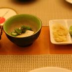 chén đậu hủ non & đậu bắp - gừng chua & Wasabi
