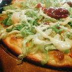 pizza mực, thanh cua