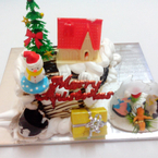 Bánh kem bo fair mùa Giáng Sinh
