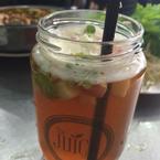 Apple Mint Tea (in a juice cup haha)