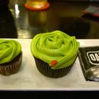 Cupcake greentea lớn nhỏ