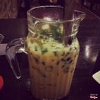 Trà sữa macaron hạt trà xanh