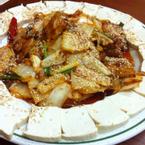 Kimchi xào đậu phụ