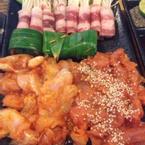 Bò cuộn nấm, thịt gà cuộn lá dứa,đà điểu,cá sấu