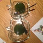 Món tráng miệng:Rau câu trà xanh-free