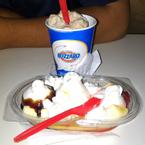 kem chuối và kem úp ngược