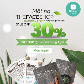 [HOT]: Đại tiệc lớn cho da với mặt nạ giấy The Face Shop GIẢM 30%