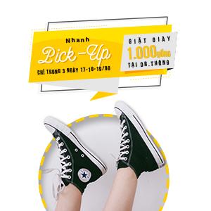 [NOW-Giặt ủi] Giặt giày 1k ở Dr. Thông. Giặt giày ngay đi!