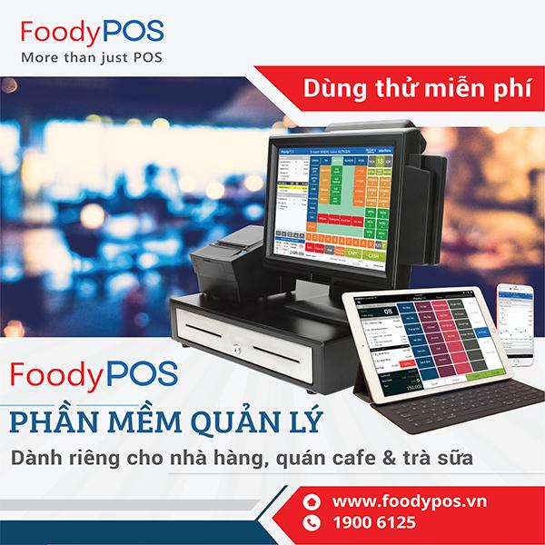 FoodyPOS: Phần mềm quản lý bán hàng với giá chỉ từ 3,300đ/ngày