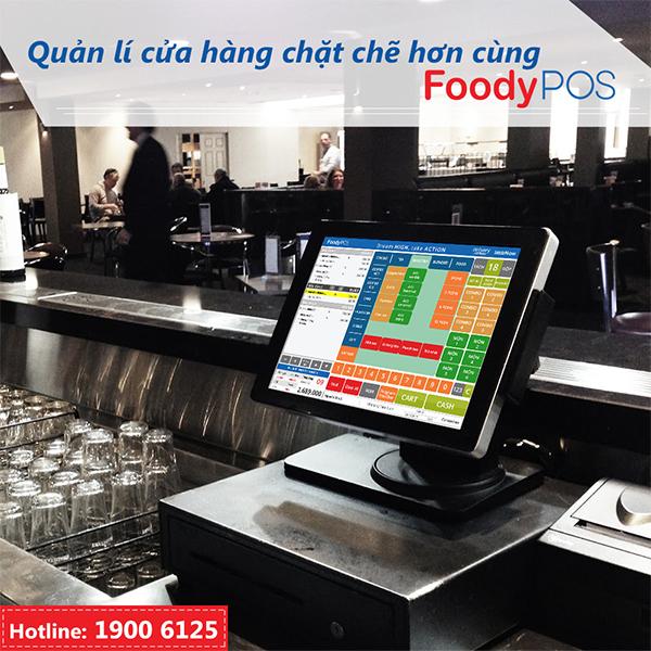 Phần mềm quản lý FoodyPOS giúp quản lí cửa hàng chặt chẽ hơn
