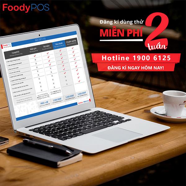 Đăng kí dùng thử miễn phí giải pháp phần mềm tính tiền FoodyPOS