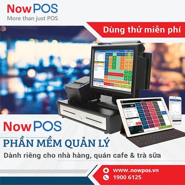 NowPOS: Phần mềm bán hàng với giá chỉ từ 3,300đ/ngày