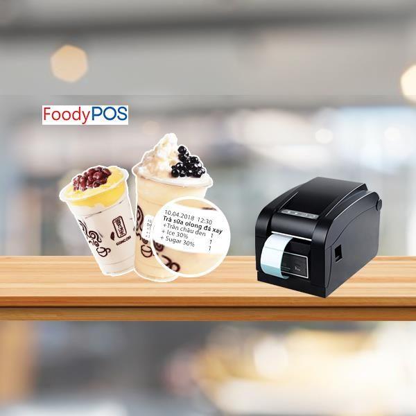 Ứng dụng của máy in tem, sticker trong quán cafe, trà sữa