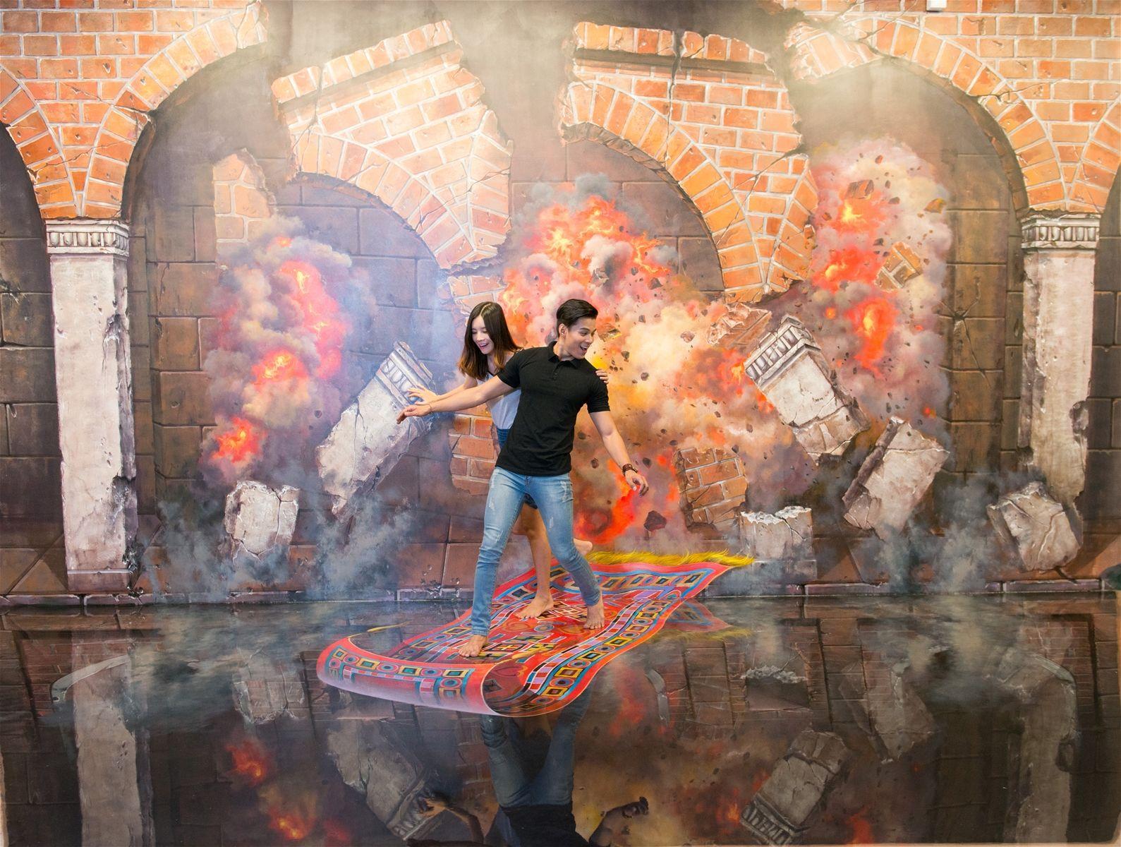 Sốt xình xịch phòng tranh 3D Art mới toanh rộng 2500m2 ở Nha Trang