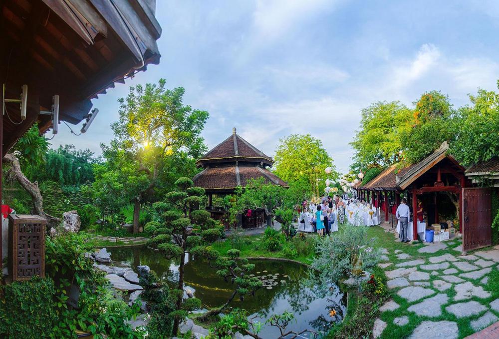 nhà hàng sân vườn đẹp ở hà nội