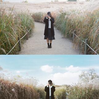 Đi Hàn thích mê với bộ ảnh đơn giản nhưng cực chất của cặp đôi cute phô mai que