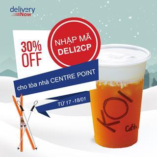 Giảm 30% 15 quán khi đặt món giao đến tòa nhà Centre Point - deliveryNow