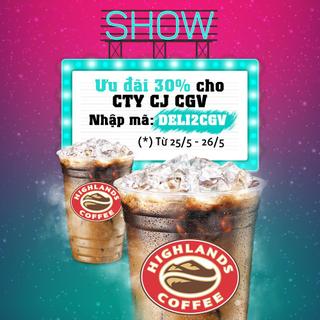 Giảm 30% 19 quán khi đặt món giao đến công ty CJ CGV Vietnam - DeliveryNow