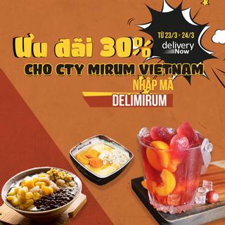 Giảm 30% 16 quán khi đặt món giao đến Mirum Vietnam - DeliveryNow