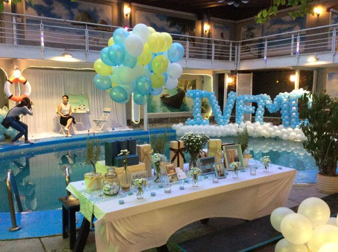 Kết quả hình ảnh cho tổ chức sinh nhật tại bể bơi