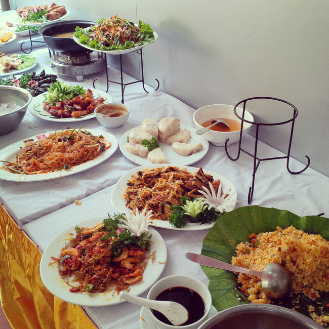 buffet chay com chay Ha Thanh