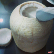 rau câu trái dừa