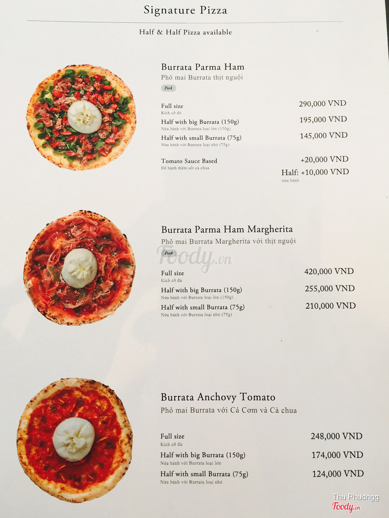 Pizza đặc trưng của quán