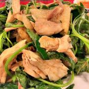 gỏi gà rau lang