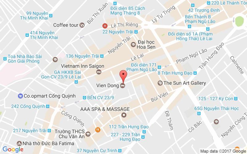 Bản đồ - Level 9 Restaurant - Liberty Saigon Parkview