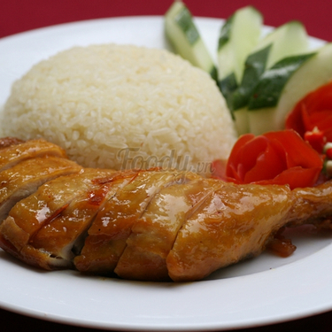 Cơm gà rô ti đùi ( 1 người )