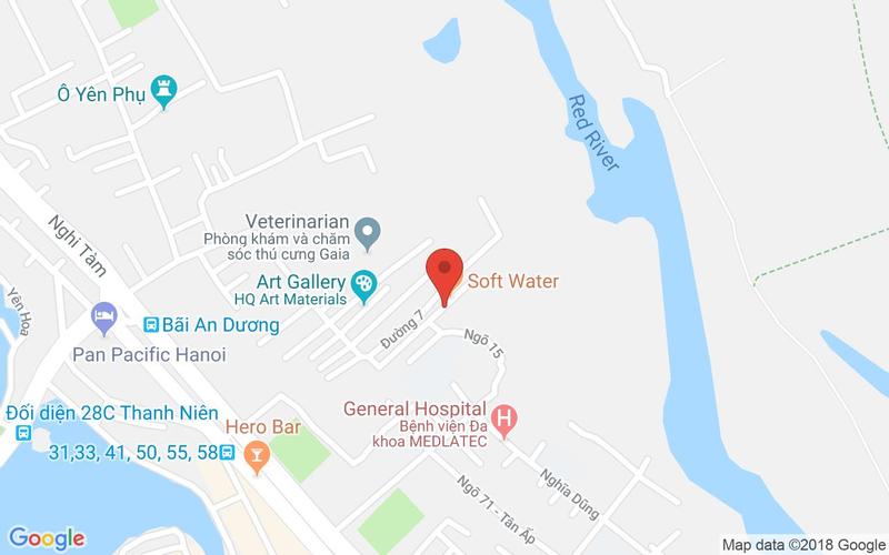 Bản đồ - Nhà Hàng Softwater - Tây Hồ