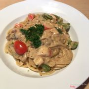 spaghetti crab meat 129k