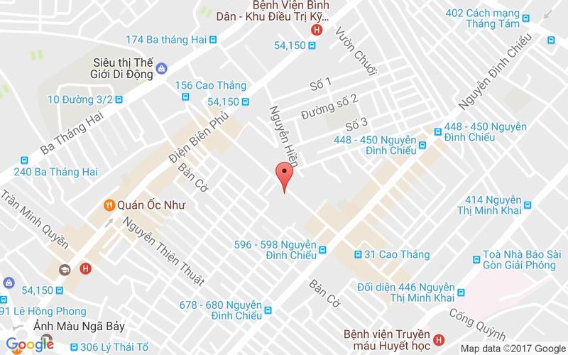 Bản đồ - Nhà Hàng Hải Sản 63 Cao Thắng