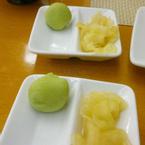 gừng và wasabi
