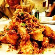 Tôm rang tép, tôm bự, thịt chắc, nêm nếm rất chi là vừa ăn