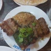 Bò lá lốt, mỡ chài, bò nướng sa tế