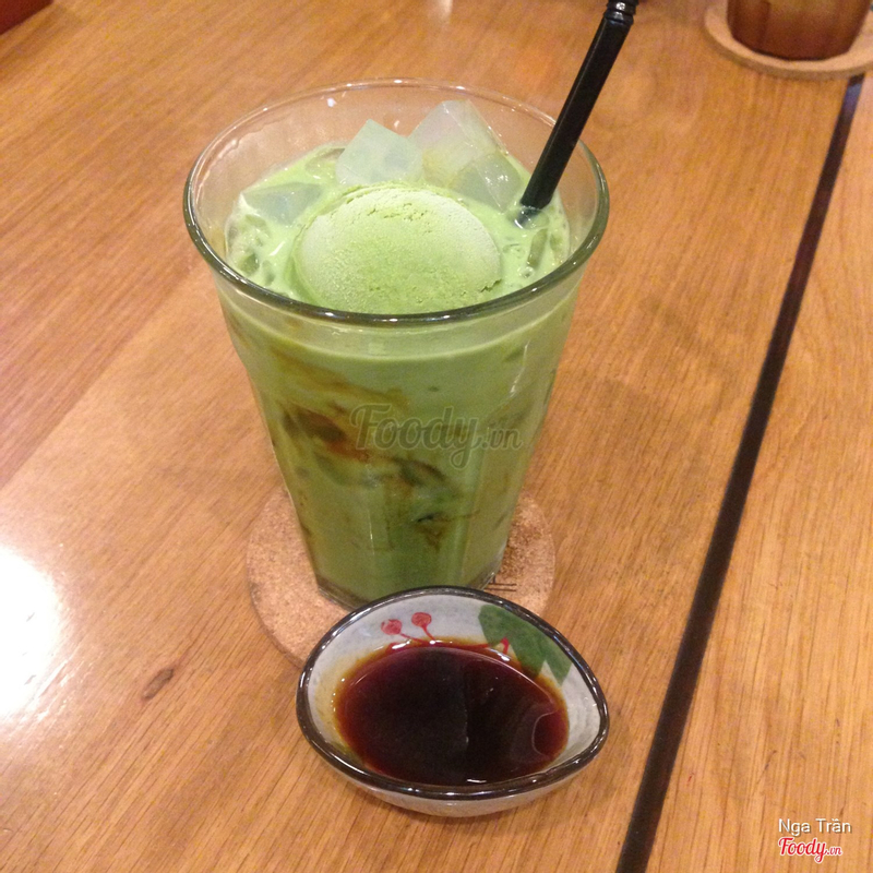 Iced Matcha Kanten with Milk - 78k