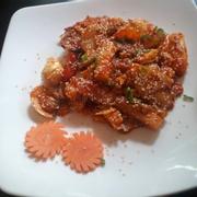 Tok hải sản ngon . Bánh gạo dai , tròn mập (*^~^*) sốt vừa miệng