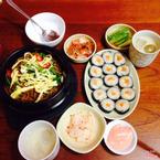 Mỳ đen - Gimbab kim chi - nước gạo