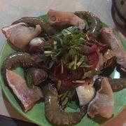 Hải sản, thịt bò tươi