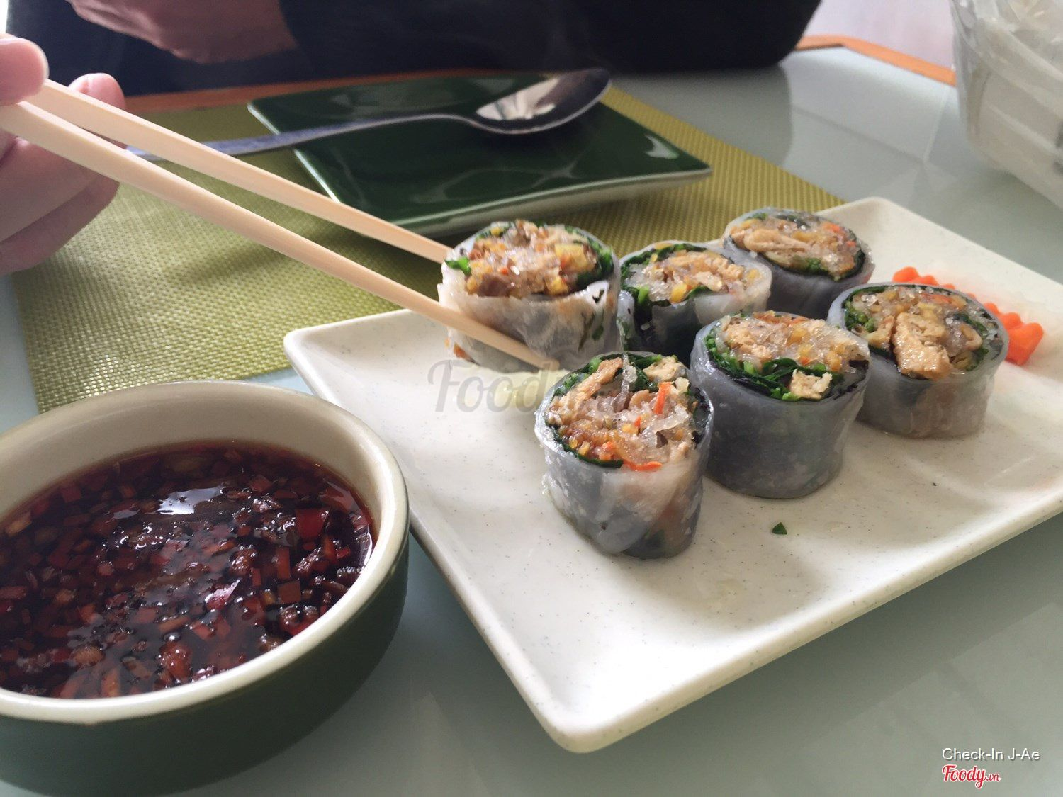 Vegetarian Rolls w/ A Slightly Sweet Sauce