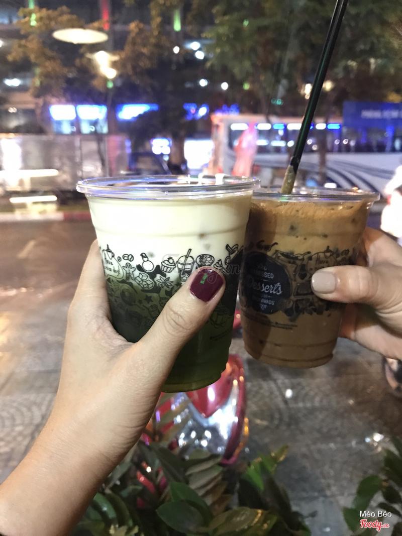 Trà xanh váng sữa và cà phê Gia Lai
