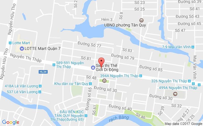 Bản đồ - Blue Spa - Nguyễn Thị Thập