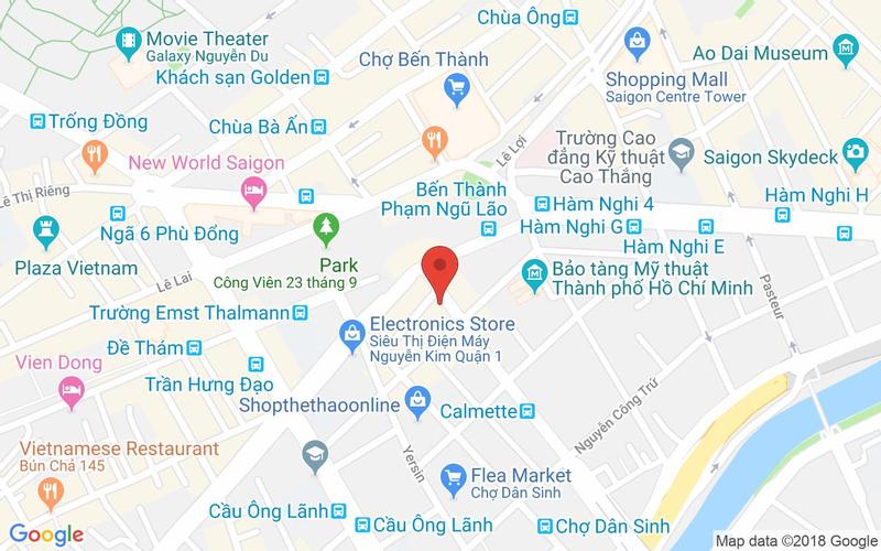 Bản đồ - Chanh Bistro Rooftop Saigon - Calmette