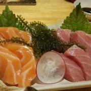 sashimi cá hồi - cá ngừ